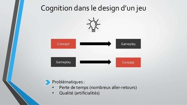 Concept Gameplay ConceptGameplay Cognition dans le design d'un jeu Problématiques : • Perte de temps (nombreux aller-retou...