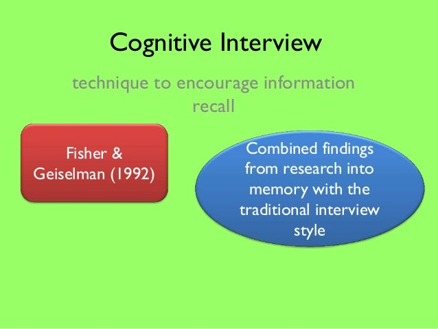 Cognitive Interview