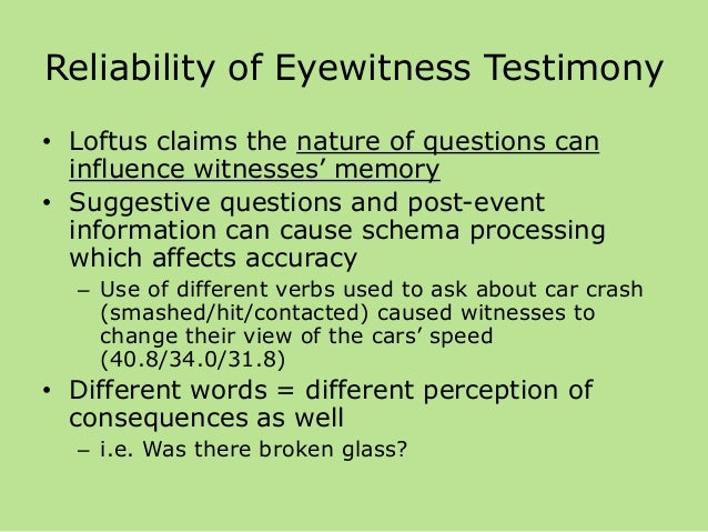 Why Science Tells Us Not to Rely on Eyewitness Accounts