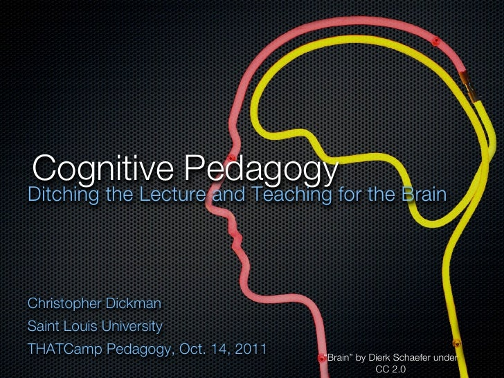 Cognitive PedagogyDitching the Lecture and Teaching for the BrainChristopher DickmanSaint Louis UniversityTHATCamp Pedagog...