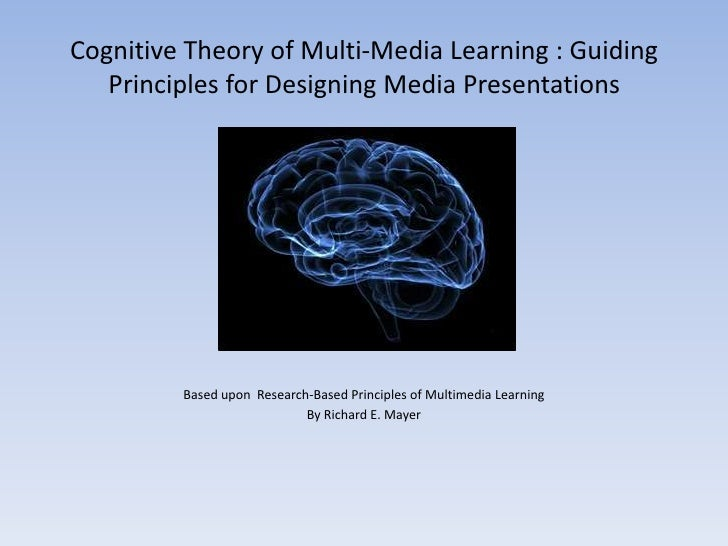 Cognitive Theory of Multi-Media Learning : Guiding   Principles for Designing Media Presentations         Based upon Resea...
