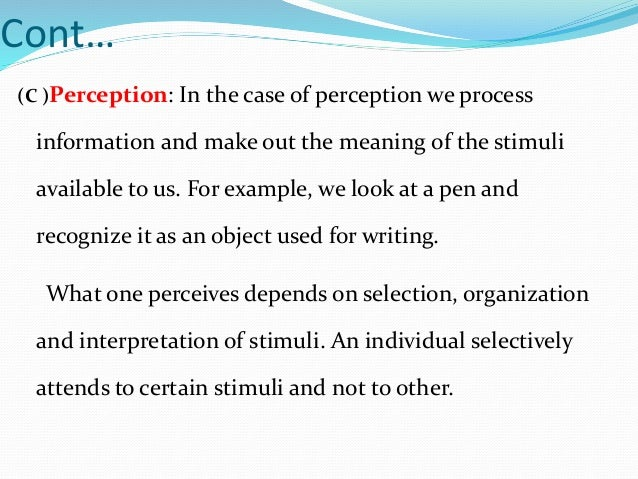 Cognitive process
