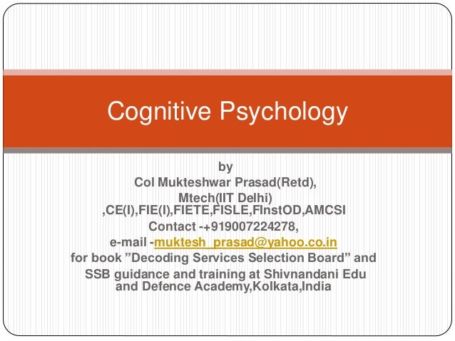 when did cognitive psychology begin