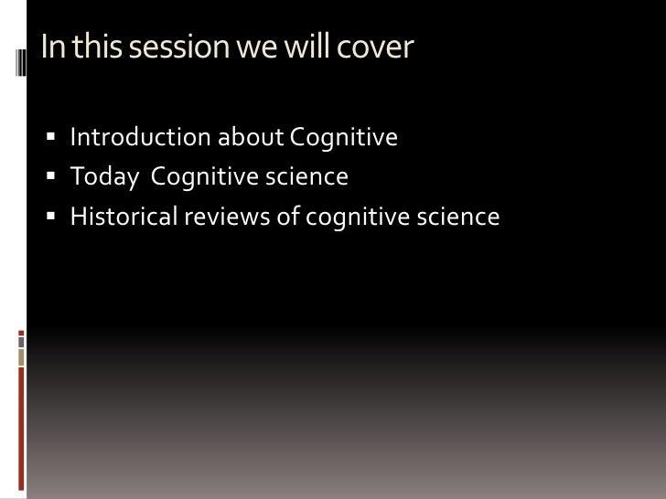 Cognitive Science Slide 3