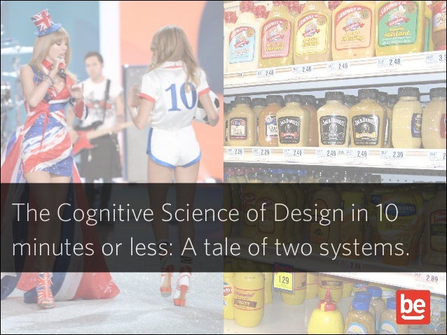 The Cognitive Science of Design in 10 minutes or less: A tale of two systems.