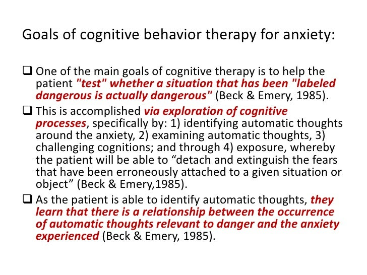 an overview of cognitive behavioral therapy and the model Learn what cognitive-behavioral therapy (cbt) is from the leading authority of cognitive-behavioral therapy cbt is based on the cognitive model of emotional.