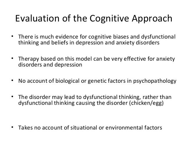appropriate populations for the cognitive theory Cognitive-behavioral therapy (cbt) is a psycho-social intervention that aims to improve mental health cbt focuses on challenging and changing unhelpful cognitive distortions (eg thoughts, beliefs, and attitudes) and behaviors, improving emotional regulation , [2] [4] and the development of personal coping strategies that target solving .