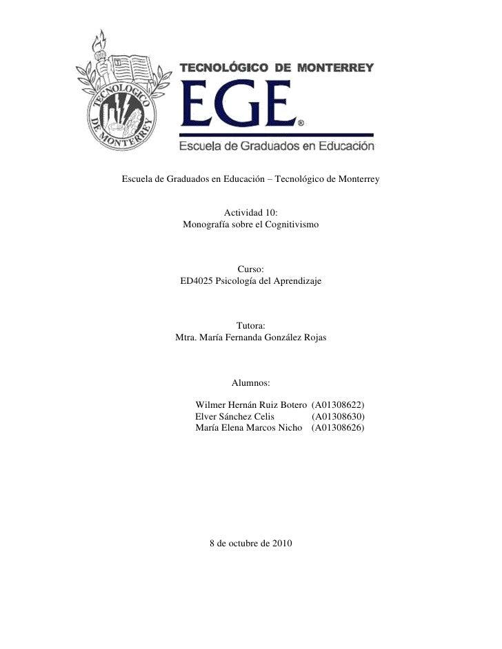 Cognitivismo monografia