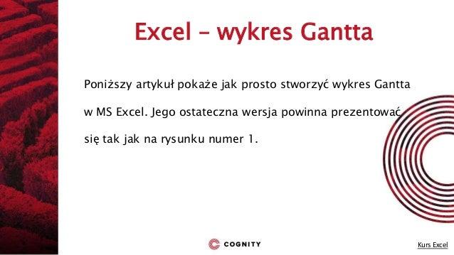 Cognity kurs excel wykres gantta kurs excel 4 excel wykres gantta ccuart Choice Image