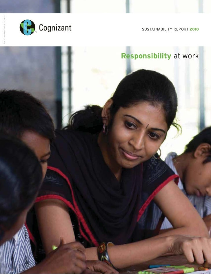 COGNIZANT 2010 SUSTAINABILITY REPORT                                            SUSTAINABILITY REPORT 2010                ...