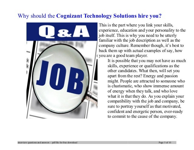 cognizant technology solutions interview questions and answers