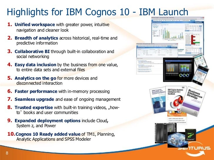 cognos 10 report booklets Cognos report studio is the primary report development interface in ibm cognos bi cognos report studio allows you to create very advanced reports ° manage my events: this option will launch cognos event studio.