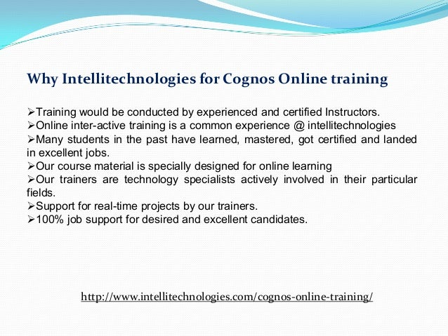 About Cognos Certification Training Course
