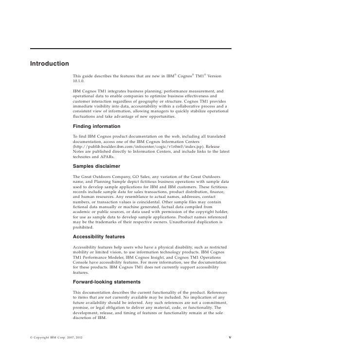 Cognos Tm1 10 1 New Features Guide