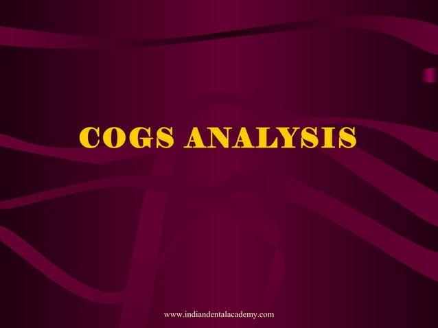 COGS ANALYSIS www.indiandentalacademy.com