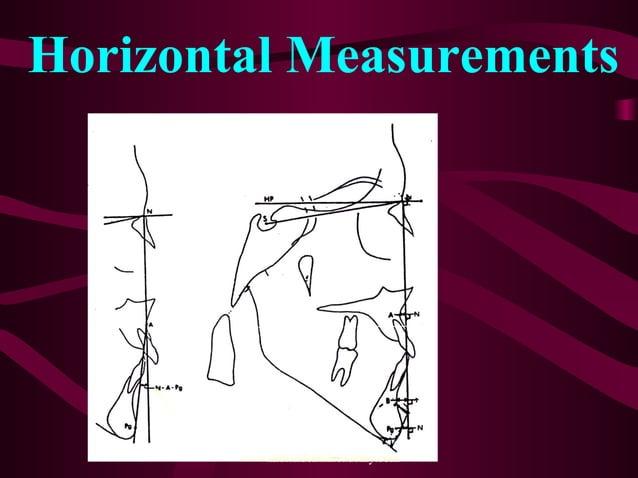 Horizontal Measurements www.indiandentalacademy.com