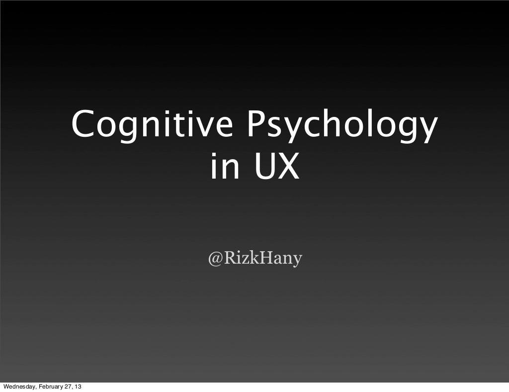 Cognitive Psychology in UX