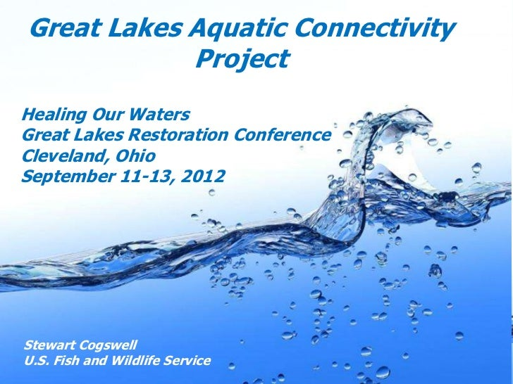 Great Lakes Aquatic Connectivity            ProjectHealing Our WatersGreat Lakes Restoration ConferenceCleveland, OhioSept...