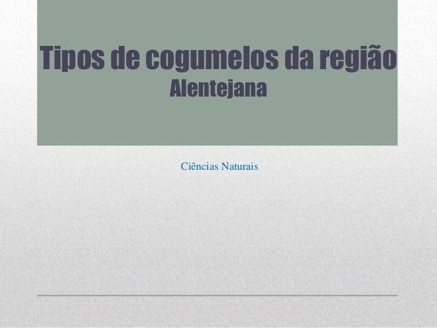 Tipos de cogumelos da região Alentejana Ciências Naturais