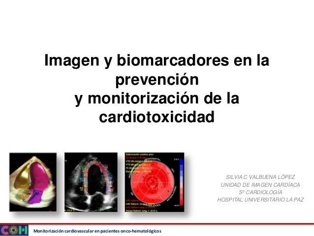 Monitorización cardiovascular en pacientes onco-hematológicos Imagen y biomarcadores en la prevención y monitorización de ...