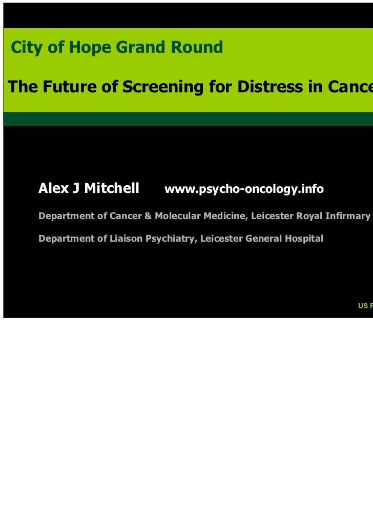 City of Hope Grand RoundCity of Hope Grand RoundThe Future of Screening for Distress in CancerThe Future of Screening for ...