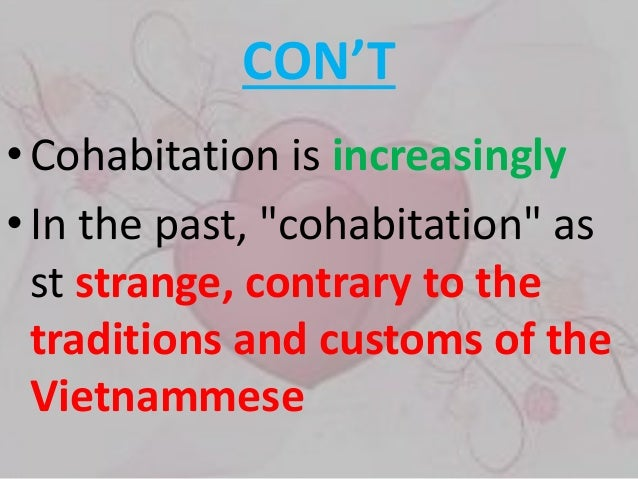 what is meant by cohabitation