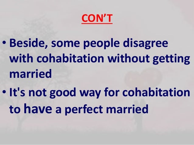 cohabitation among young people What's the deal with cohabitation  family breakdown in england involving young children took place in cohabiting  marital dissolution among women,.