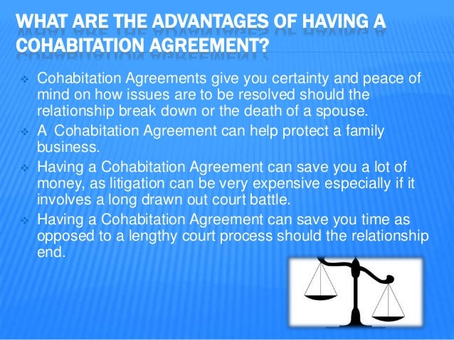 Vancouver family lawyer focusing on cohabitation agreements 3 what are the advantages of having a cohabitation agreement platinumwayz