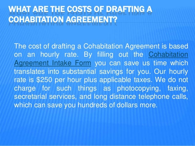 Vancouver family lawyer focusing on cohabitation agreements 6 what are the costs of drafting a cohabitation agreement platinumwayz