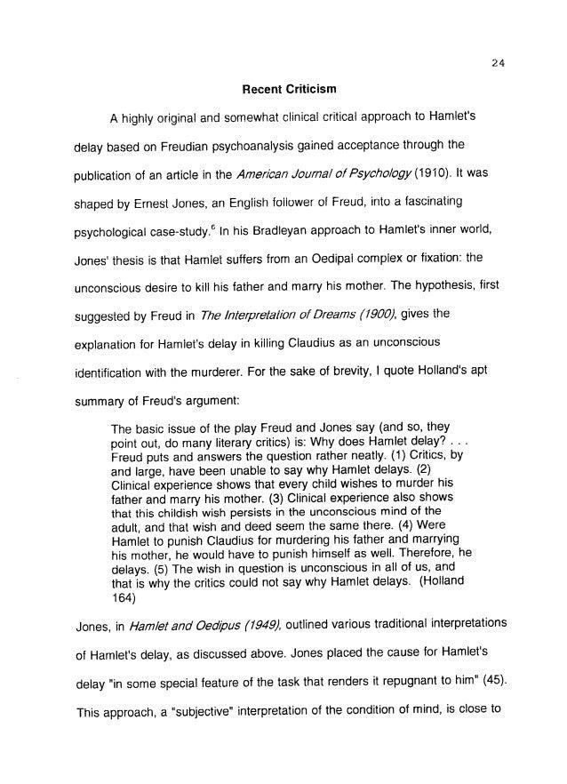 hamlet madness essay outline