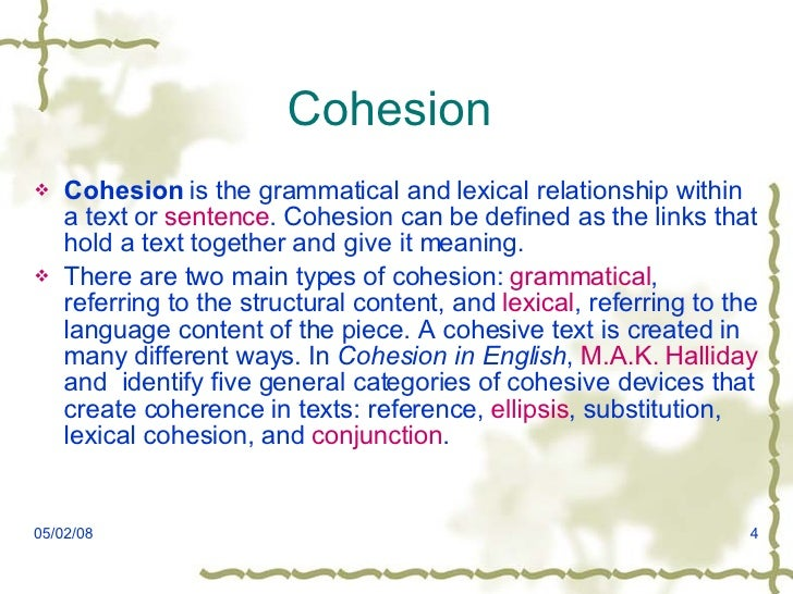 Coherence And Cohesion