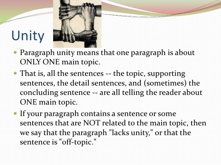 Example of coherence in a paragraph