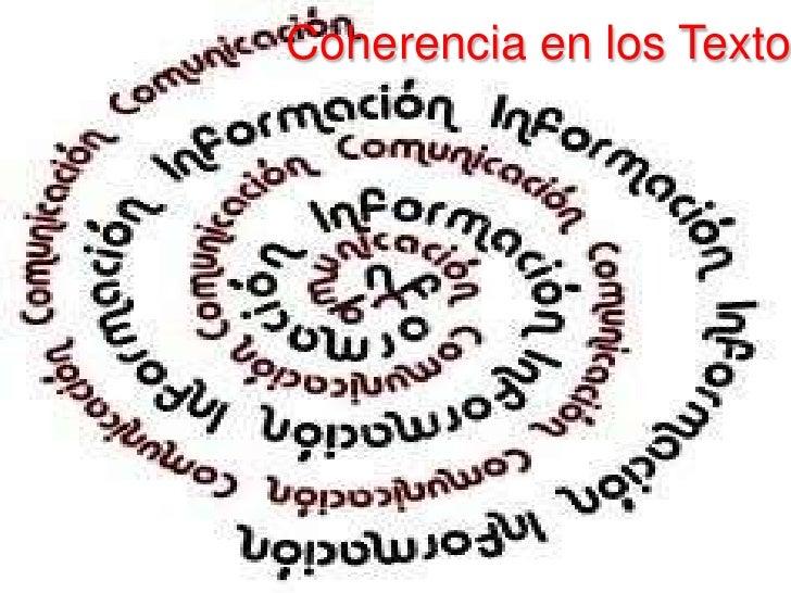 Coherencia en los Textos<br />