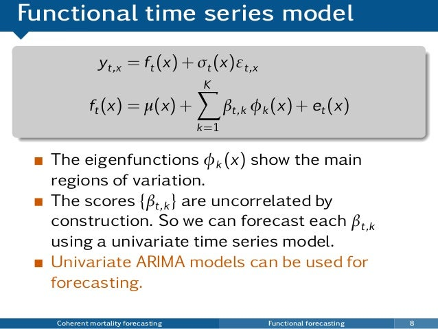 time series models Arima(p,d,q) forecasting equation: arima models are, in theory, the most general class of models for forecasting a time series which can be made to be stationary by differencing (if necessary), perhaps in conjunction with nonlinear transformations such as logging or deflating (if necessary.