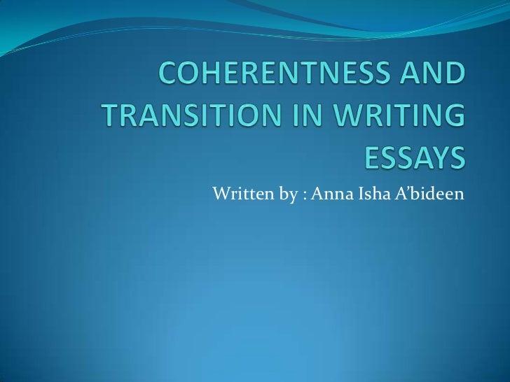 Written by : Anna Isha A'bideen