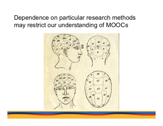 Dependence on particular research methods may restrict our understanding of MOOCs Analysis suggests that researchers have ...