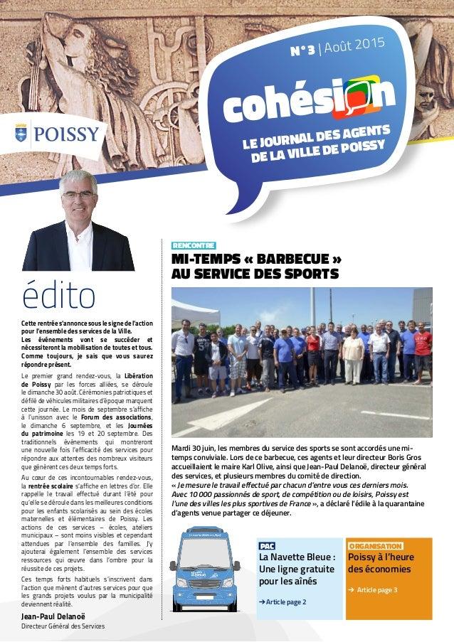PAC La Navette Bleue : Une ligne gratuite pour les aînés ➔ Article page 2 ORGANISATION Poissy à l'heure des économies ➔ Ar...