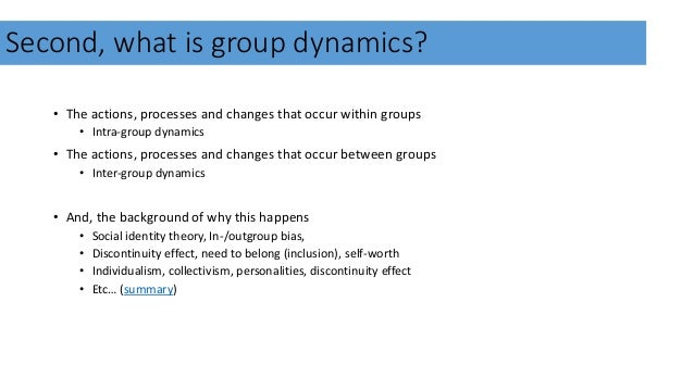 group cohesion theory