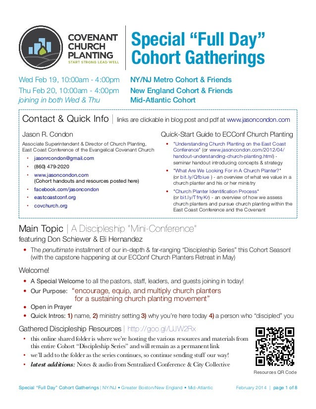 """Special """"Full Day"""" Cohort Gatherings Wed Feb 19, 10:00am - 4:00pm  NY/NJ Metro Cohort & Friends Thu Feb 20, 10:00am - 4:..."""