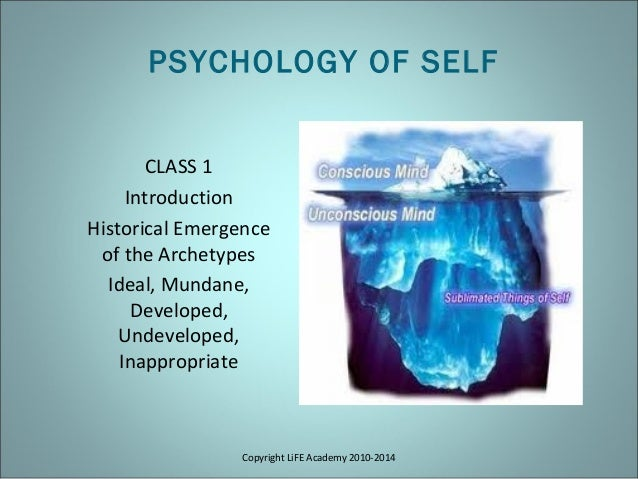 Copyright LiFE Academy 2010-2014 CLASS 1 Introduction Historical Emergence of the Archetypes Ideal, Mundane, Developed, Un...