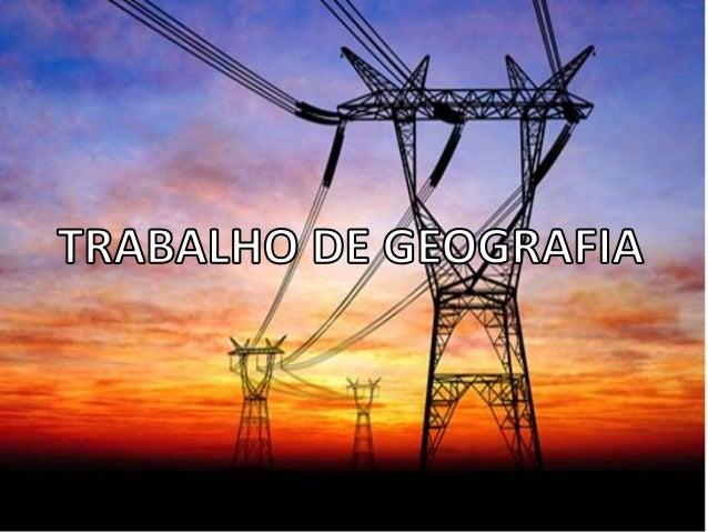 A produção e o consumo mundial de energia estão diretamente vinculados ás três Demissões do desenvolvimento sustentável: m...