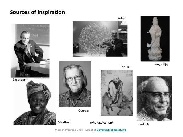 Sources of Inspiration Fuller Maathai Ostrom Kwan Yin Jantsch Work in Progress Draft – Latest at CommunityofImpact.info La...