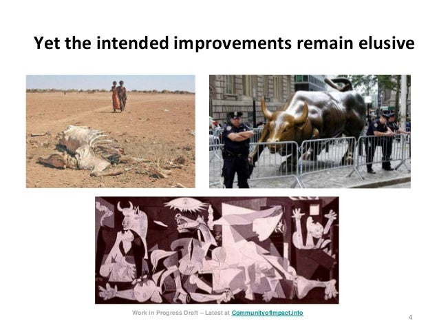 4 Yet the intended improvements remain elusive Work in Progress Draft – Latest at CommunityofImpact.info