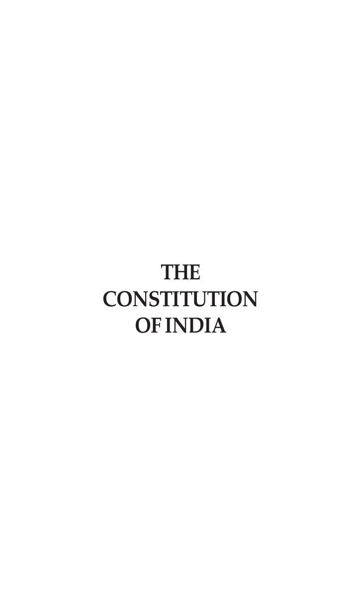 THECONSTITUTION  OF INDIA