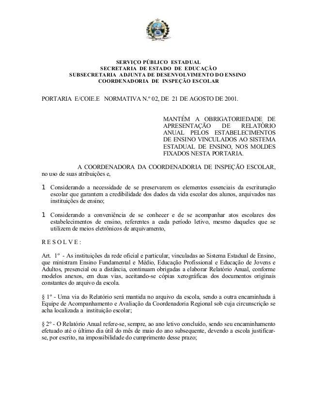 SERVIÇO PÚBLICO ESTADUAL SECRETARIA DE ESTADO DE EDUCAÇÃO SUBSECRETARIA ADJUNTA DE DESENVOLVIMENTO DO ENSINO COORDENADORIA...