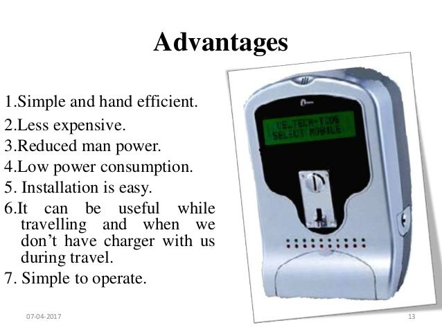 Ppt for coin based mobile charger versions : Metronome