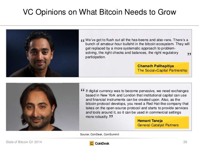 """We""""ve got to flush out all the has-beens and also-rans. There""""s a bunch of amateur-hour bullshit in the bitcoin ecosystem...."""