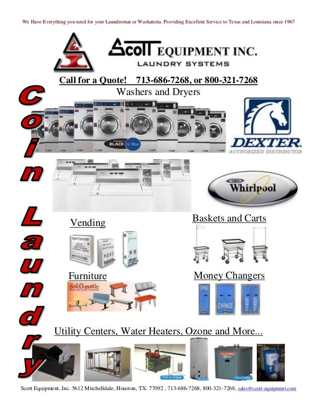 We Have Everything you need for your Laundromat or Washateria. Providing Excellent Service to Texas and Louisiana since 19...
