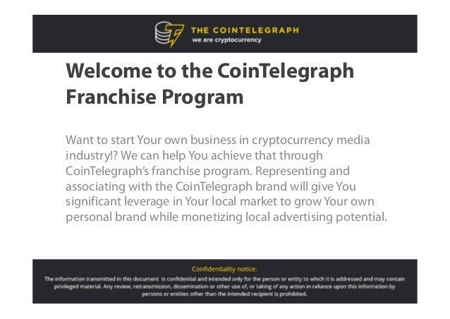CoinTelegraph franchise program Slide 2