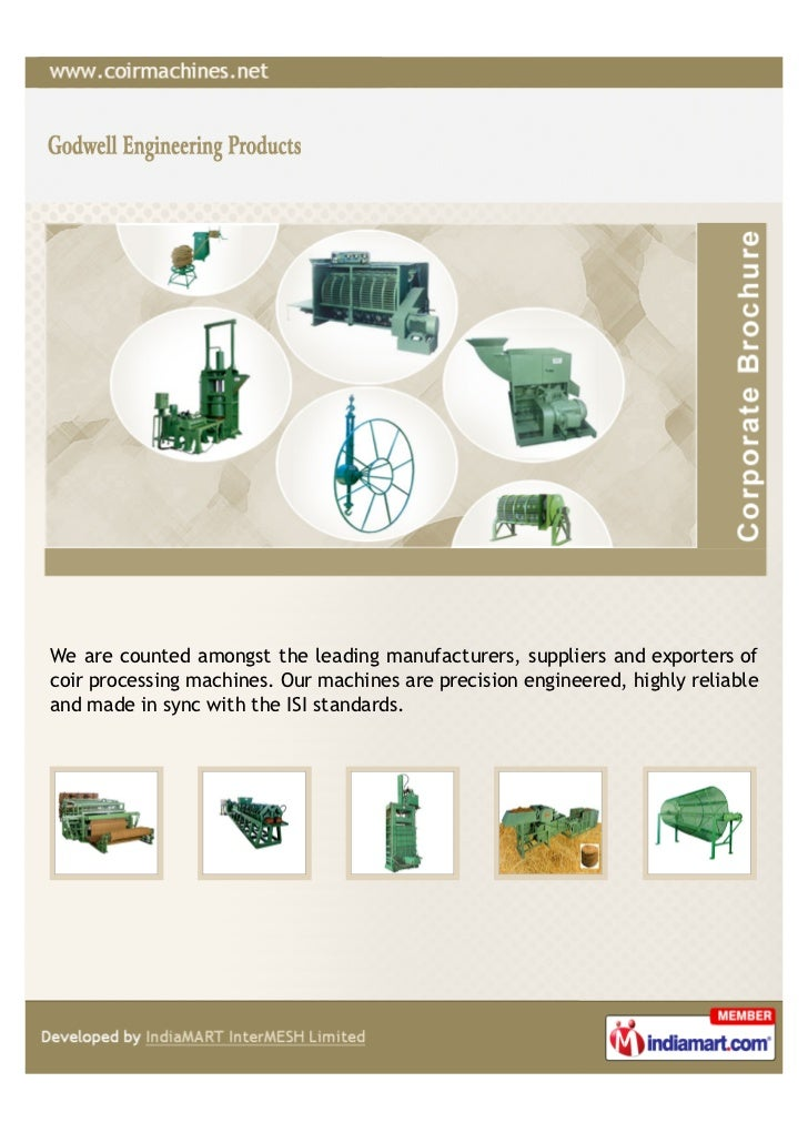 We are counted amongst the leading manufacturers, suppliers and exporters ofcoir processing machines. Our machines are pre...